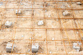 Steel rod, reinforcement before pouring concrete — Foto Stock