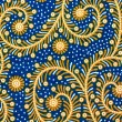 Pattern of Thai hand made Blue fabric — Stock Photo #33140475