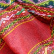 Pattern of Thai hand made red fabric — Stock Photo