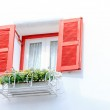 Old Vintage red window — Stock Photo