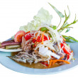Thai papayspicy salad or Som Tum with blue crab — Stock Photo #33167981
