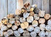 Stack of timber — Stock Photo