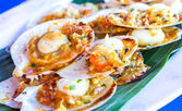 Scallops cooked with Spices. — Stock Photo