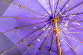 Beach Umbrella with Rust — Stock Photo