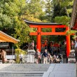 KYOTO, JAPAN - OCT 30 : Tourists at Fushimi Inari Shrine on Octo — Foto Stock