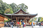 KYOTO, JAPAN - OCT 30 : Tourists at Kinkakuji Temple in Kyoto, J — Foto Stock