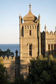 Medieval castle by the sea — Stock Photo