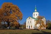 Christian Orthodox monastery in autumn park — Stock Photo
