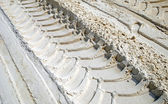 Колесо след на песке — Стоковое фото
