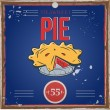 Vintage pie poster — Stock Vector