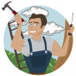Stock Vector: Carpenter