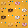Donut pattern — Stock Vector