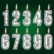Royalty-Free Stock Vector Image: Numeral soccer  birthday candles