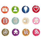 Set of grunge icons — Stock Vector