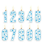 Numeral birthday candles boy — Stock Vector