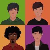 Erkek avatarları — Stok Vektör
