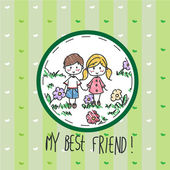 My best friend — Stock Vector