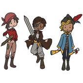 Pirati — Vettoriale Stock
