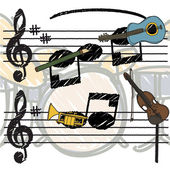 Musical background — Stock Vector