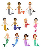 Mermaids — Stock Vector