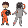 Stock Vector: Astronaut