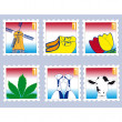 Stock Vector: Dutch stamps