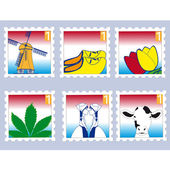 Dutch stamps — Stock Vector