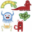 Monsters4 — Stock Vector