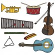 Freehand instruments — Stock Vector