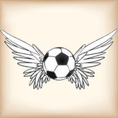 Soccer angel — Stock Vector