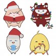 Christmas monsters — Stock Vector