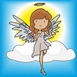Stock Vector: Angel