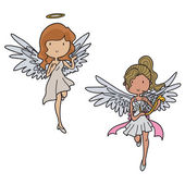 Set of angels — Stock Vector