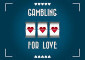 Gambling for love — Stockvector