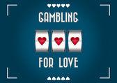 Gambling for love — Stock Vector