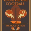 Stock Vector: Vintage college American football poster