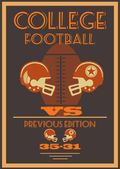 Vintage college American football poster — Stock Vector