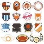 Sport badges — Stock Vector #38330297