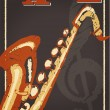 Stock Vector: Vintage jazz poster