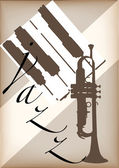 Jazz poster vector — Stock Vector