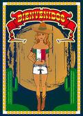 Mexican poster vector — Stock Vector