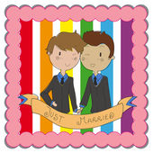 Gay marriage — Stock Vector