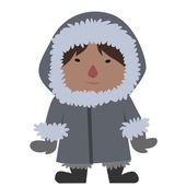 Eskimo — Stock Vector
