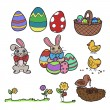 Easter elements vector — Stock Vector