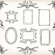 Stock Vector: Borders and frames
