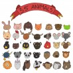 Animal heads vector — Stock Vector #42629991