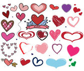 Heart shape collection vector — Stock Vector