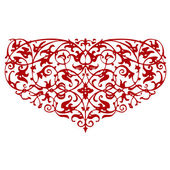 Ornamental red heart shape — Stok Vektör