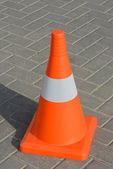 Orange road barrier — Photo