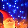 Stock Photo: Christmas decoration with SantClaus Figurine